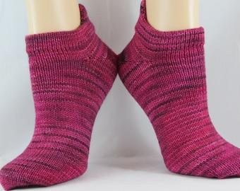 Melon Colored Heel Tab No Show Hand Cranked Socks