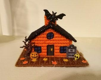 Halloween  Haunted House , Halloween Village, Halloween Decoration. Handmade, One of Kind, a Ghostgap Design