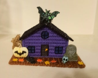 Haunted House ,  Halloween Village, OOAK,Halloween Decoration ,ghostgap