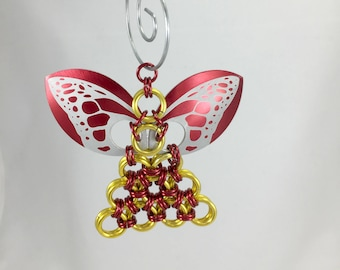 Guardian Angel Ornament Christmas Ornament Chainmaille Etsy