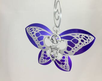 Butterfly Ornament, Christmas Ornaments, Unique Ornaments, Girls Decoration, Metal Ornament, Small Metal Wall Art, Unique Decoration