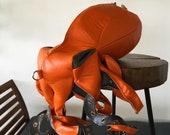 Orange Leather Backpack Octopus Backpack Sea Monster Squid Bag Octopus Leather Bag Poulpe Bag Devilfish Bag
