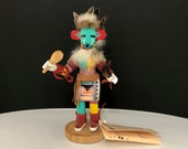 Navaho Early Morning Hand Carved Kachina Doll signed by J. B. - Has Original Store Tag