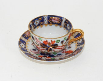Vintage Hokutosha Japan Imari Miniature Cup And Saucer