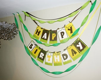 Jungle Happy Birthday Party Banner CLEARANCE