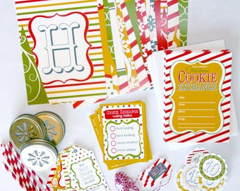 Holiday Christmas Cookie Exchange Party-In-A-Box Kit