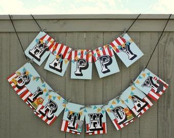 Circus/ Carnival Birthday Party Banner- Printable DIY PDF