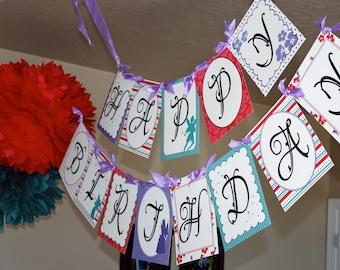 Fairy Happy Birthday Party Banner