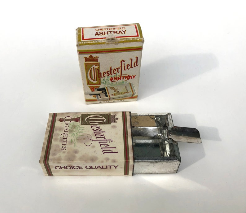 Vintage Pocket Ash Tray Chesterfield Personal Ashtray Unique Vintage Gift