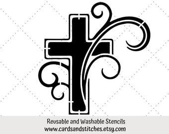 Fancy Cross Stencil Etsy