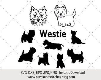PK 2 WESTIE PRESENT EMBELLISHMENT TOPPERS FOR CARDS//CRAFTS