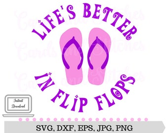 df2af50d5757c Flip Flops SVG - Summer Flip Flops - Digital Cutting File - Silhouette SVG  - Graphic Design - Instant Download - Svg