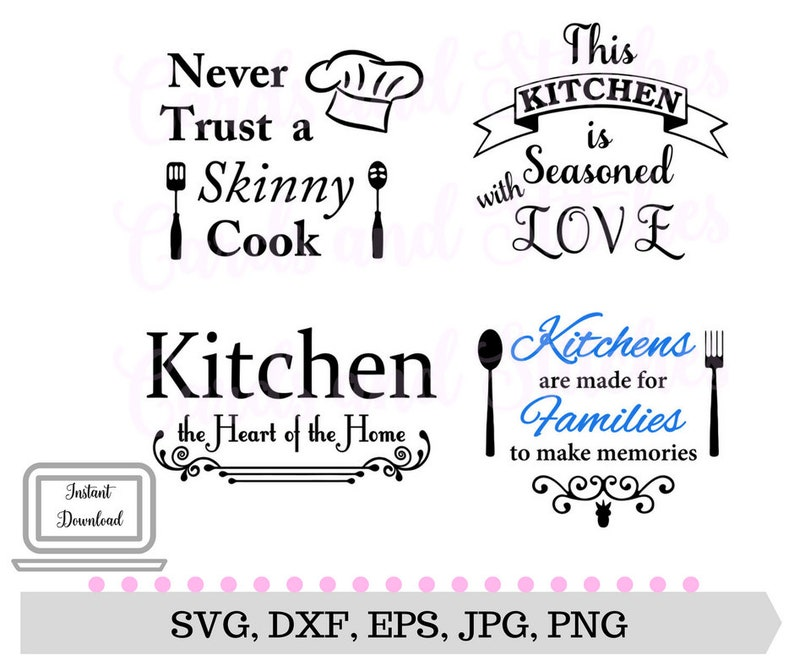 kitchen svg kitchen sayings svg kitchen decor digital | etsy