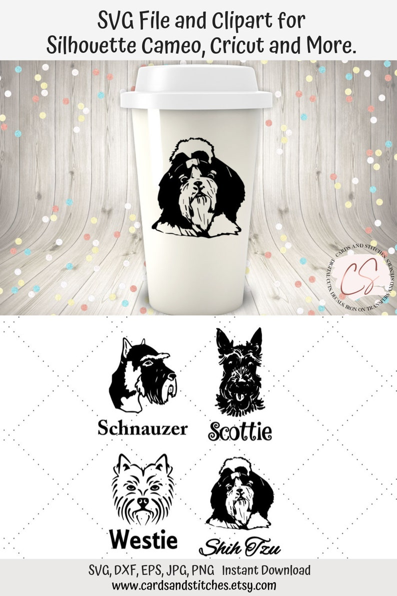 Dogs Faces Svg And Clipart Svg Bundle Cuttable File For Etsy