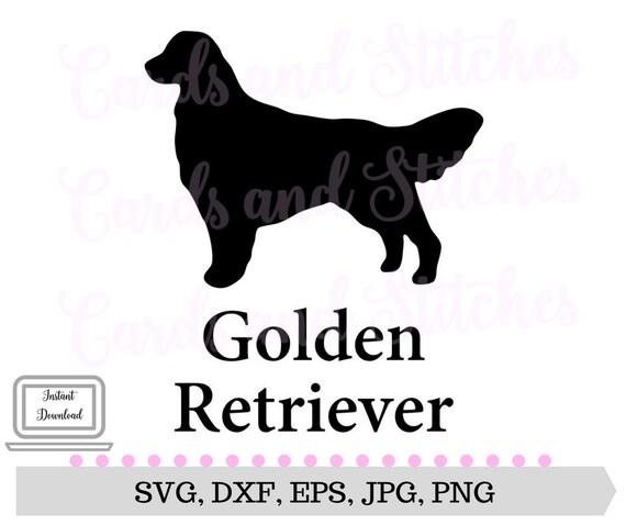 Golden Retriever Svg Dog Svg Retriever Clipart Instant Etsy
