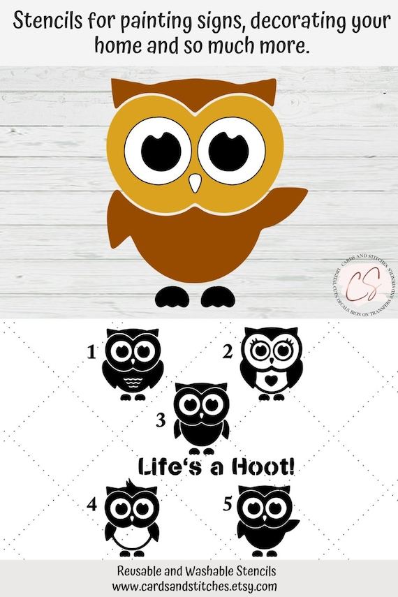 Craft Layering owl bird Stencil Wall Painting Scrapbooking Embossing Paper WRDE