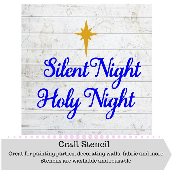 Silent Night Stencil Christmas Craft Paint