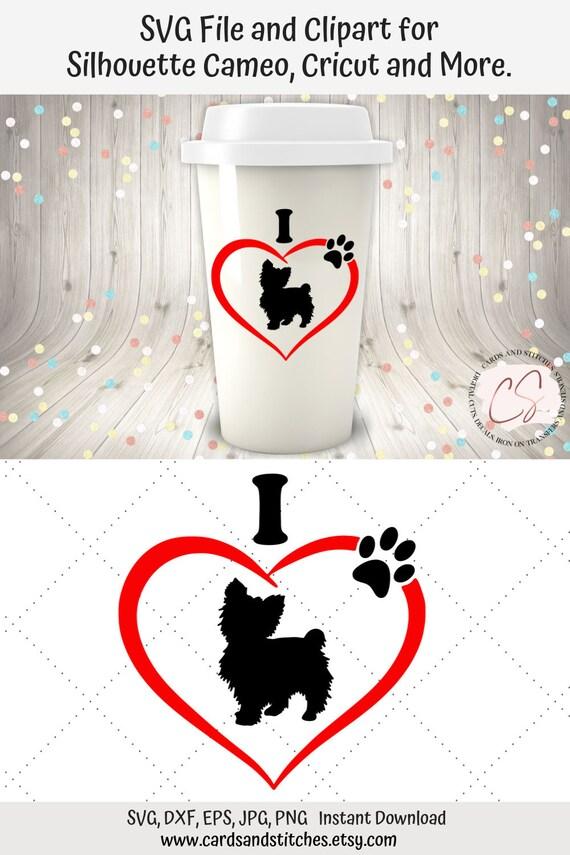 Yorkie Svg Love Yorkie Svg Heart Yorkie Clipart Dog Svg Etsy