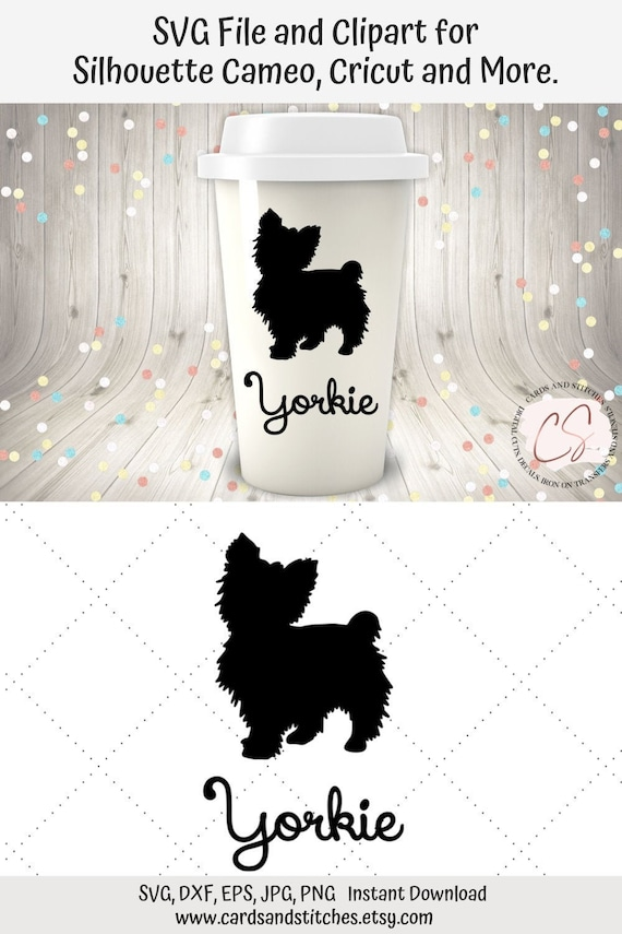 Yorkie Svg Yorkie Clipart Yorkshire Terrier Svg Instant Etsy