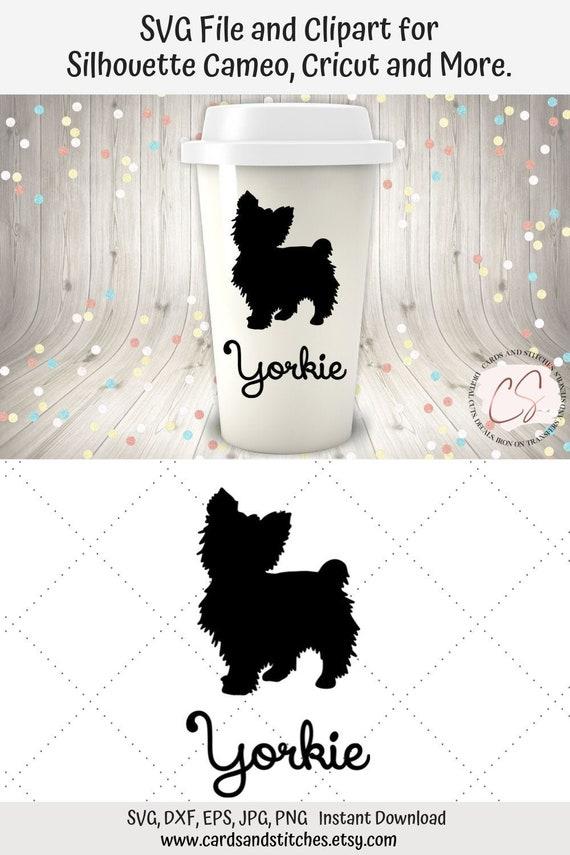 Yorkie Svg Yorkie Clipart Yorkshire Terrier Svg Instant Etsy