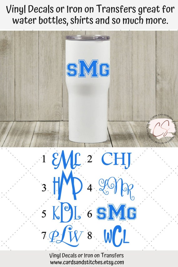 Custom Vinyl Decal ~ Infinity Monogram ~ 18 Colors Available ~ 9 inches wide