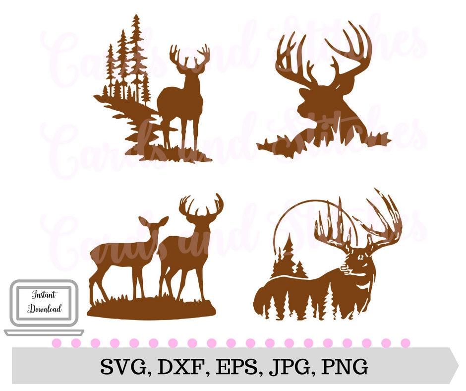 Download Deer Silhouettes SVG Deer SVG Digital Cutting File   Etsy