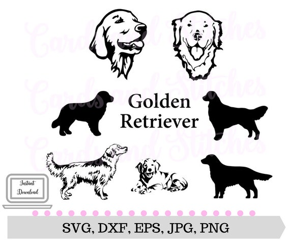 Golden Retriever Svg Dogs Svg Dog Clipart Svg Dxf Jpg Etsy
