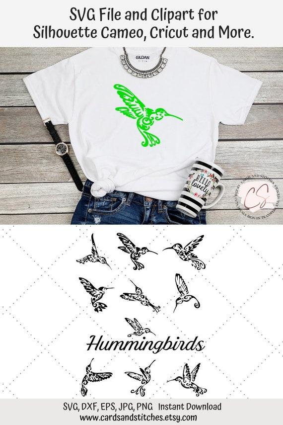Hummingbirds Svg Fancy Hummingbirds Digital Cutting File Etsy