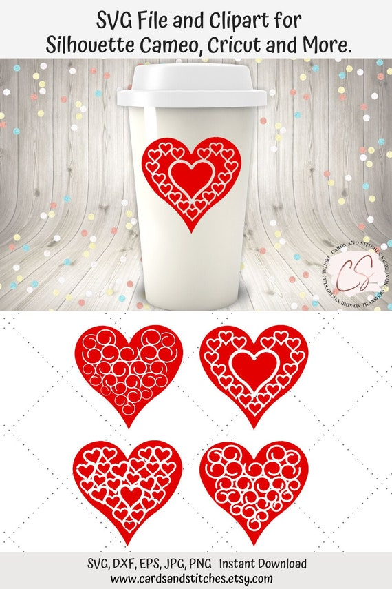 Valentine Hearts Svg And Clipart Great For Silhouette And Etsy