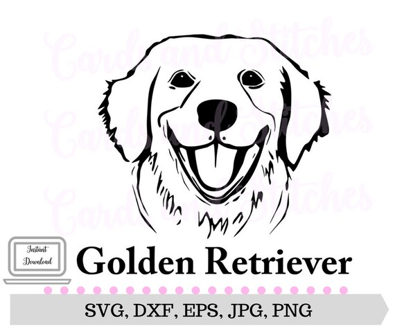 Golden Retriever Svg Golden Retriever Dog Breed Svg Etsy
