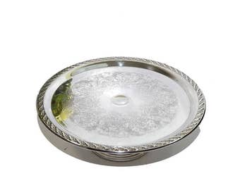 Silver Cake Plate Silver Cake Stand Silver Pedestal Cake Plate Silver Cupcake Stand Wedding Cake Plate Wedding Decorations