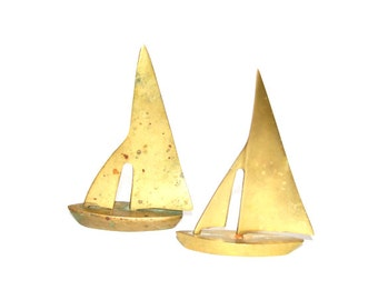 Vintage Brass Boats, Brass Sailboats, Brass Boat, Brass Ships, Nautical Decor, Maritime, Naval Ship, Beach house Decor,