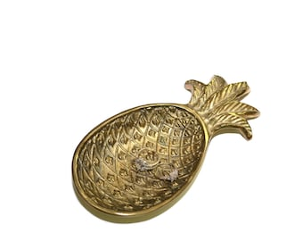 Brass Pineapple Dish Pineapple Ring Dish Pineapple Tray Pineapple Dish Brass Pineapple Tray