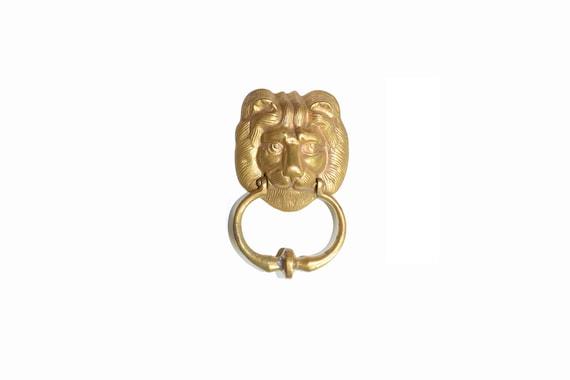 Vintage Lion Door Knocker Brass Lion Door Knocker Lion Door | Etsy