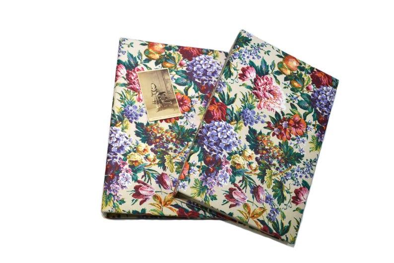 Vintage Floral Print Photo Album Floral Print Picture Album Cloth Photo Album Wedding Photo Album Keepsake