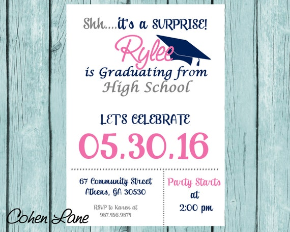 graduation party invitation graduation invite high school graduate