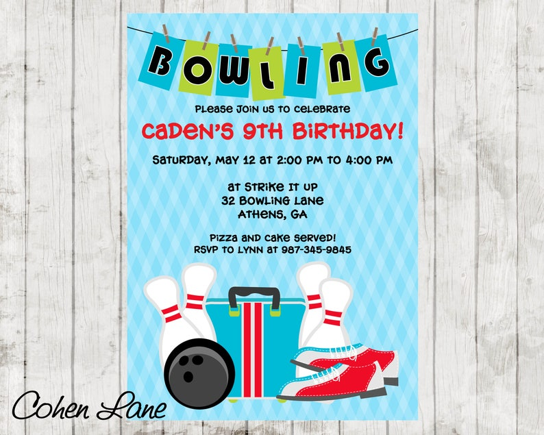 photograph about Printable Bowling Party Invitations identify Printable Bowling Social gathering Invitation. Bowling Birthday Celebration Invite. Conclude Of Higher education 12 months Bowling Social gathering.