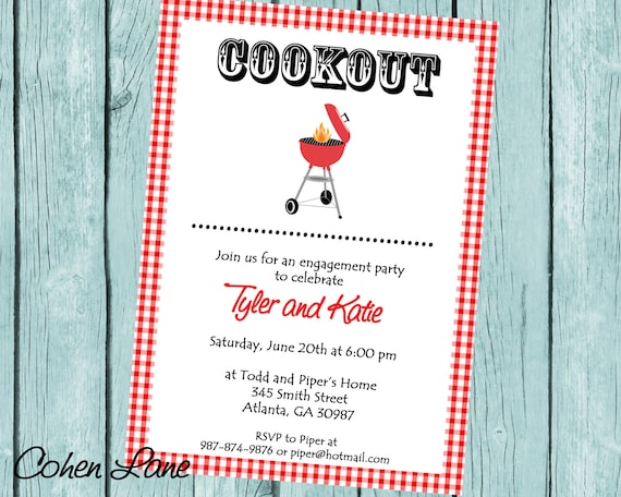 printable bbq invitation bbq engagement party invite bridal shower