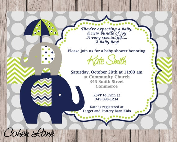 image regarding Printable Elephant Baby Shower Invitations referred to as Printable Elephant Little one Shower Invitation by way of Paper Lovely