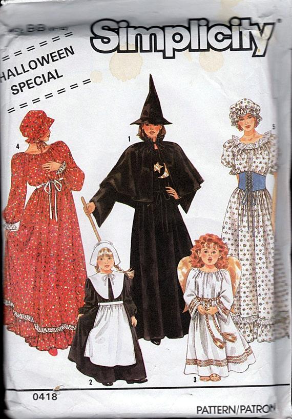 Girls Costume Pattern: Witch Angel Pilgrim Prairie Dress | Etsy