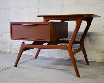 Mid Century End Table Etsy