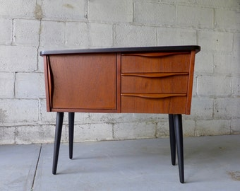 Mid Century Modern TEAK CABINET entryway table