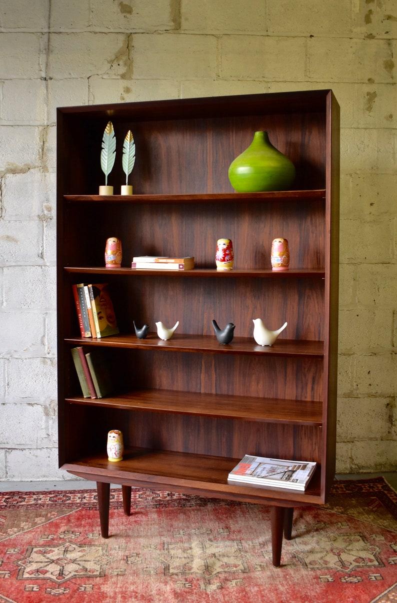 Danish Mid Century Modern Rosewood Bookcase By Ib Kofod Larsen