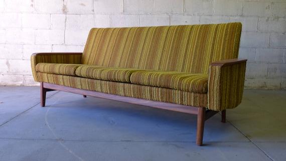 Strange Mid Century Modern Tweed Teak Sofa Machost Co Dining Chair Design Ideas Machostcouk