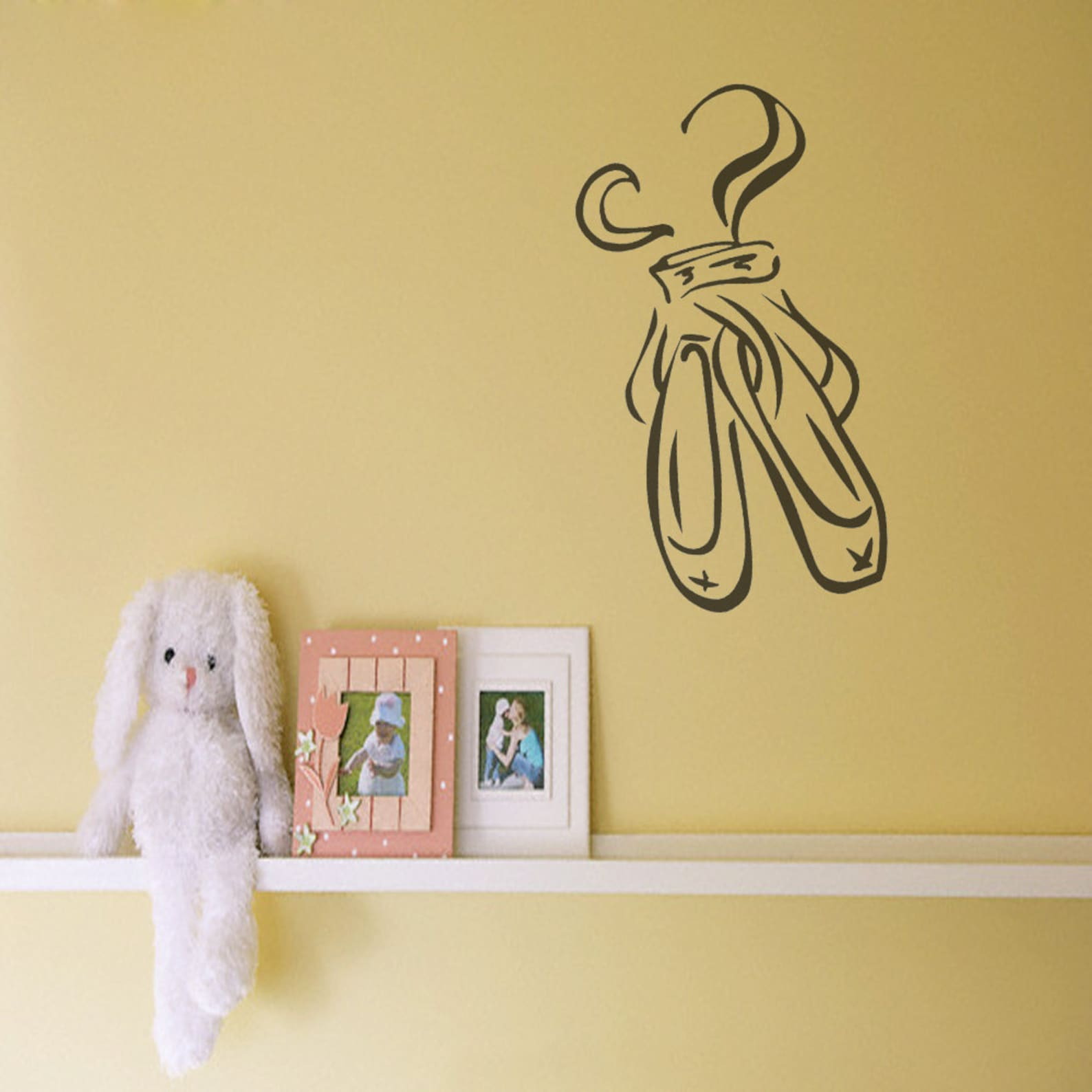 ballet shoes - vinyl wall decal - children baby kid nursery