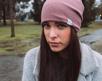 Rose Bamboo Fleece or Jersey Slouch Beanie - For every hat sold we donate one for one to a child fighting Cancer