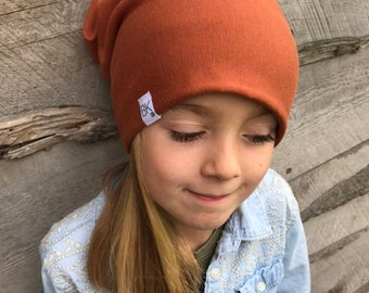 Bamboo Slouch Beanie in Rust   Chemo Hats   Soft hats   Chemo Headwear   Toque