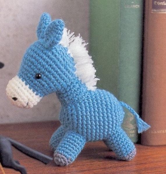 Amigurumi Pony Horse Plush Crochet Pattern Pdf Etsy