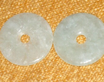 SALE pendant Jade donut pendant 35 mm bead