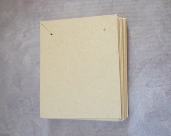 Blank kraft necklace jewelry cards 2.5 x 2 white, red, display tags